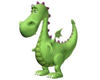 Het Droevige Beeldverhaal van de draak - Stock Afbeelding