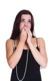 Het droevige meisje Stock Foto