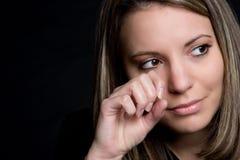 Het droevige Schreeuwen van de Vrouw Royalty-vrije Stock Foto's