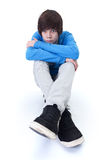 Het droevige tiener denken Stock Foto