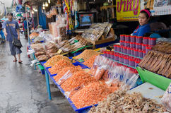 Het droge overzeese voedsel voor verkoopt Stock Foto