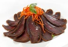 Het droge rundvleesvlees Stock Foto