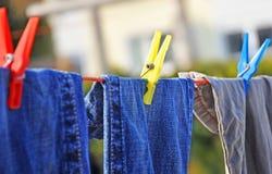 Het drogen clothes1 Royalty-vrije Stock Foto's
