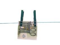 Het drogen van geld Stock Foto