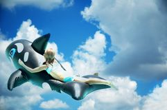Het dromen vector illustratie