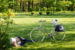 Het dromen na het biking Royalty-vrije Stock Fotografie