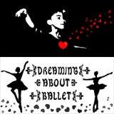 Het dromen over ballet Royalty-vrije Stock Afbeeldingen