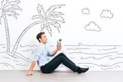 Het dromen over vakantie royalty-vrije stock afbeeldingen