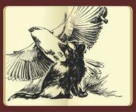 Het dromen over vleugels en vrijheidsillustratie Stock Fotografie