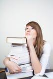 Het dromen van de student Stock Foto