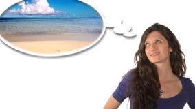 Het dromen van een Vakantie stock videobeelden