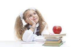 Het dromen van het schoolmeisje Stock Foto