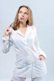 Het dromen van sexy arts met glazen Royalty-vrije Stock Foto's
