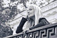 Het dromende meisje van Loney royalty-vrije stock foto's