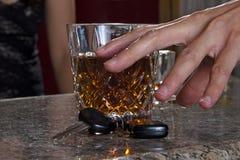 Het dronken Drijven Stock Afbeeldingen