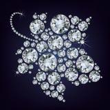het druif-blad maakte omhoog heel wat diamant Royalty-vrije Stock Afbeelding