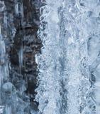 Het druipen abstracte ijsfromation Stock Fotografie