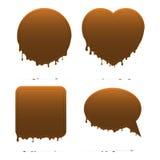 Het druipen chocoladevormen Royalty-vrije Stock Afbeeldingen
