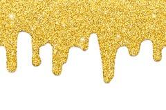 Het druipen gouden naadloos stock illustratie