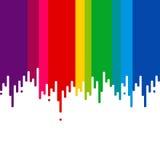 Het druipen van al kleurenverf Stock Fotografie