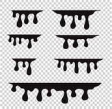 Het druipen van de verf Druipende vloeistof Verfstromen Huidige verf, sta vector illustratie