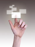 Het drukken van de hand de knoop Stock Foto