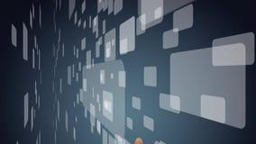 Het drukken van de hand virtuele knoop stock videobeelden