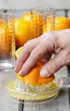 Het drukken van sinaasappelen Royalty-vrije Stock Foto's