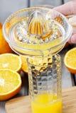 Het drukken van sinaasappelen Stock Afbeelding