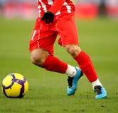 Het druppelen van het voetbal Royalty-vrije Stock Afbeeldingen