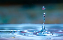 Het druppeltje van het water Stock Afbeelding
