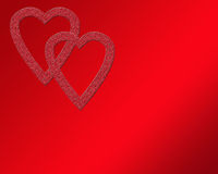 Het Dubbele Hart van de valentijnskaart Royalty-vrije Stock Afbeeldingen