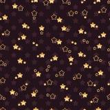 Het dubbele naadloze patroon van de bloemster royalty-vrije illustratie