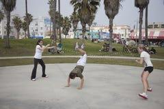 Het dubbele Nederlands in het Strand van Venetië stock foto