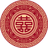Het dubbele Symbool van het Geluk Royalty-vrije Stock Fotografie