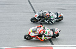 het Duel van de Klasse 2009 250cc voor de Kroon van het Kampioenschap van de Wereld Stock Afbeeldingen