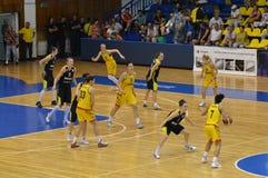 Het duel van de Vrouwen 2013 van EuroBasket Royalty-vrije Stock Foto