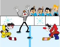 Het duel van het hockey Stock Afbeelding