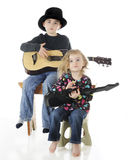 Het Duet van de gitaar Royalty-vrije Stock Afbeeldingen