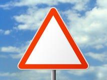 (Het duidelijke) teken van de driehoek Stock Foto's