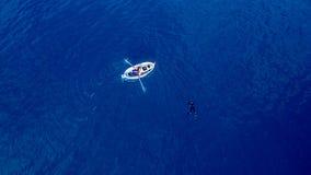 Het duiken in Blanes 1 Stock Foto's