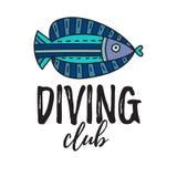 Het duiken club royalty-vrije illustratie