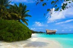 Het duiken club op een tropisch eiland stock foto
