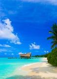 Het duiken club op een tropisch eiland royalty-vrije stock fotografie
