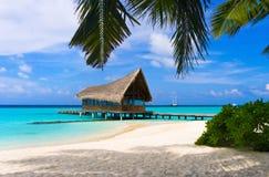 Het duiken club op een tropisch eiland Stock Fotografie