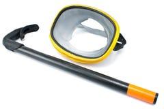 Het duiken de beschermende brillen met snorkelen Stock Fotografie