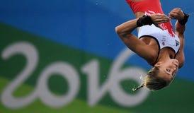 Het duiken in de Olympische Spelen 2016 stock foto's
