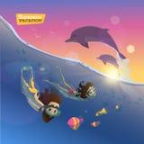 Het duiken in deze zomer Geniet van het stock illustratie