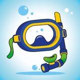 Het duiken masker Stock Foto