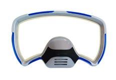 Het duiken masker als frame stock fotografie